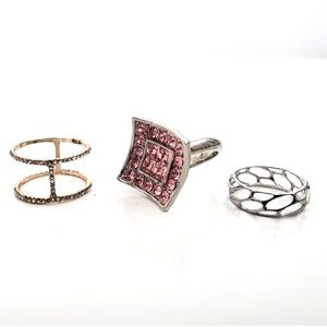 [SET OF 3] COSTUME JEWELRY RINGS